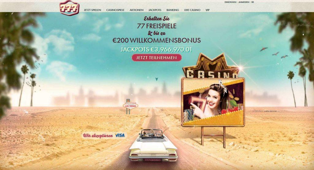 777 Casino Online bonus